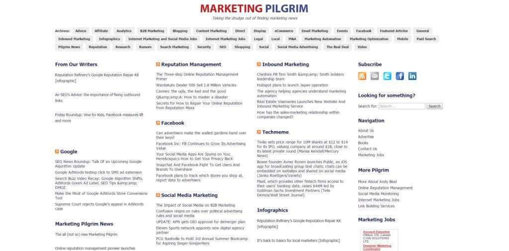 SEO Blog 015 Marketing Pilgrim
