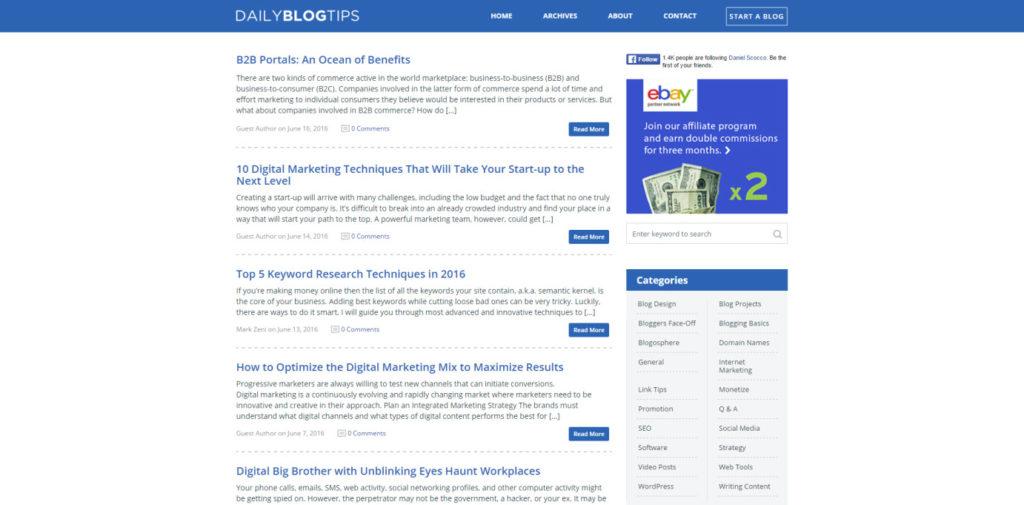 SEO Blog 016 Daily Blog Tips