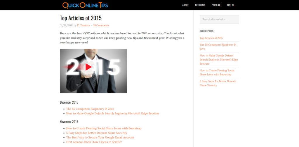 SEO Blog 024 Quick Online Tips
