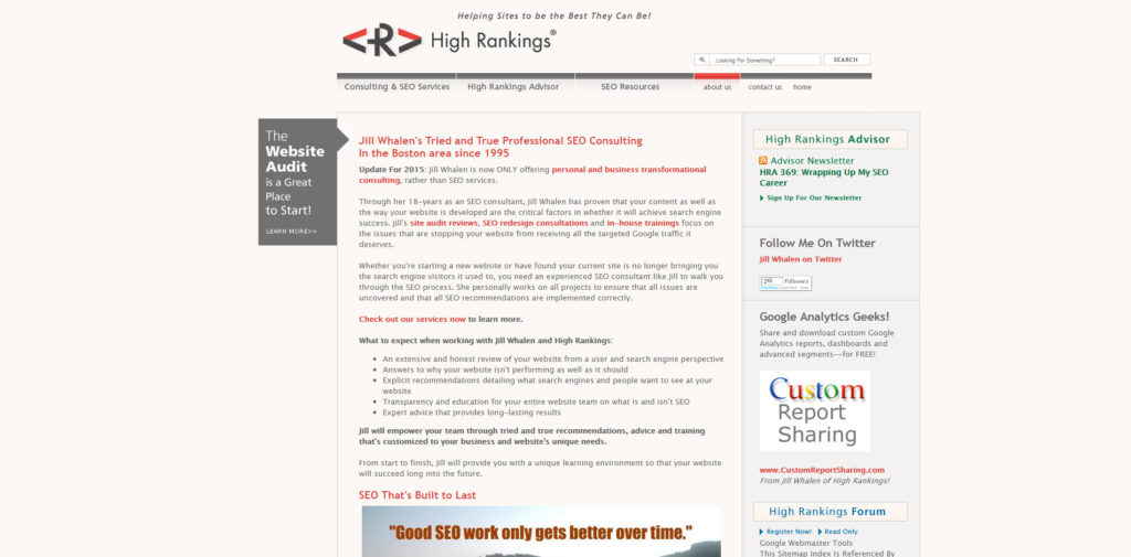 SEO Blog 029 High Rankings