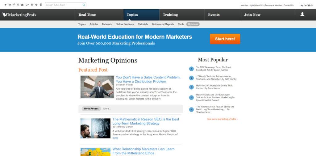 SEO Blog 050 Marketing Profs