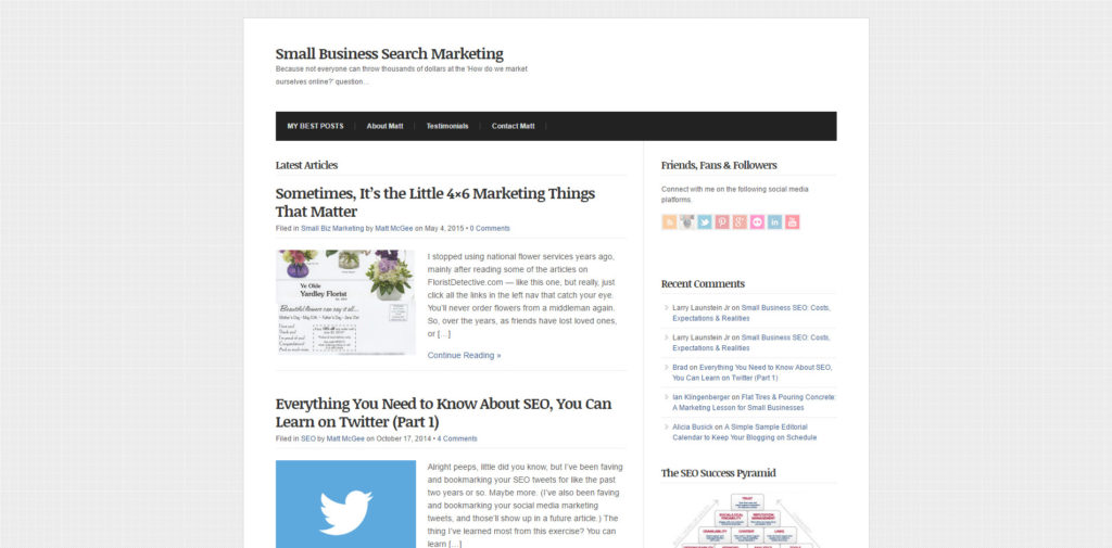 SEO Blog 052 Small Business Search Marketing