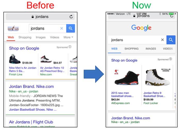 Vorher Nachher Google Shopping mobil ONMA