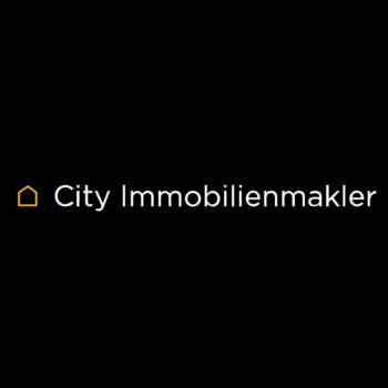 Logo city immobilienmakler weiss auf schwarz quadrat hannover