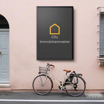 Straßenschild city immobilienmakler hannover
